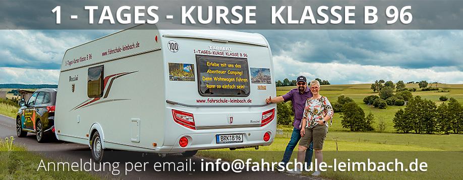 fahrschule leimbach bad brückenau Wohnwagen 1 - TAGES - KURSE  KLASSE B 96